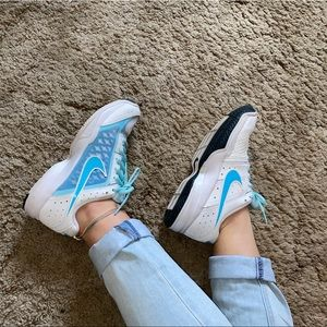 Nike Air White and Blue Shoes